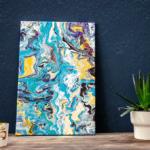 DIY Kunstwerk auf Leinwand mit Acrylic Pouring