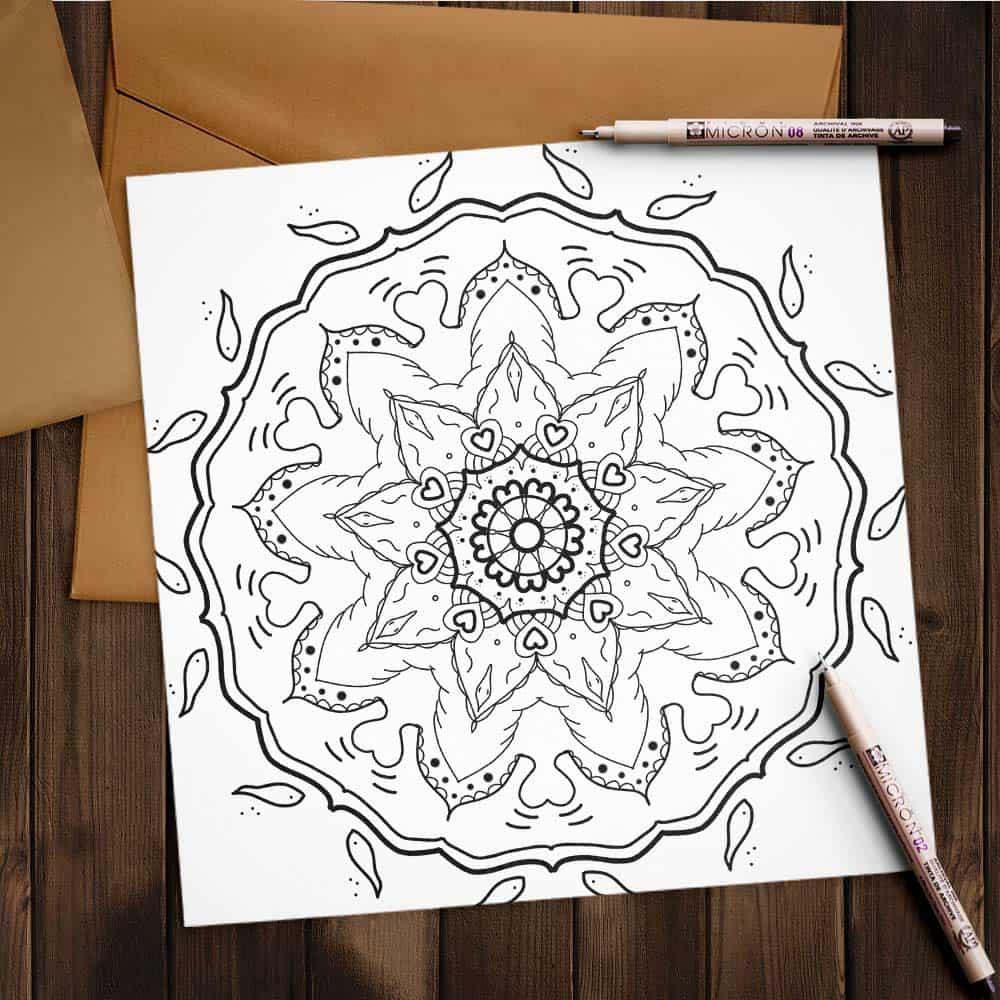Mandala freebie zum ausmalen