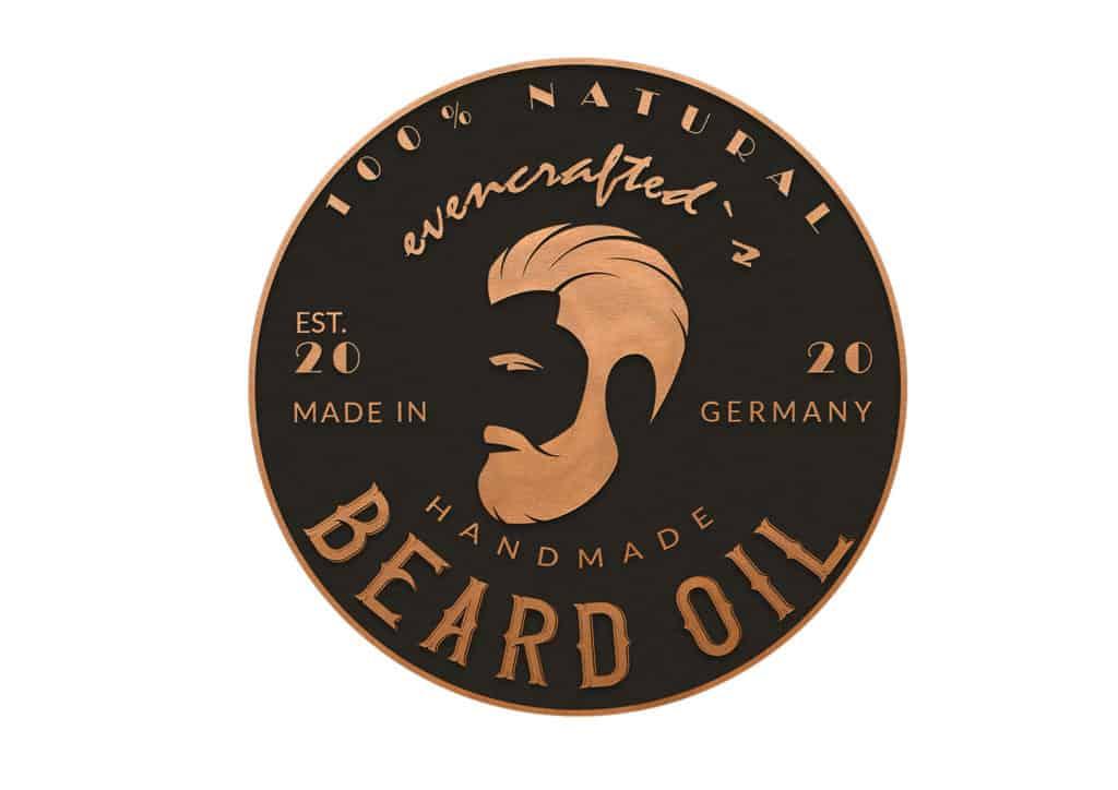 Gratis Etikett zum Ausdrucken für selbstgemachtes Bartöl für weichen Bart und gepflegte Gesichtshaut