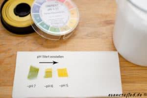 pH Wert einstellen mit pH Indikator Papier- Duschgel einfach selber machen