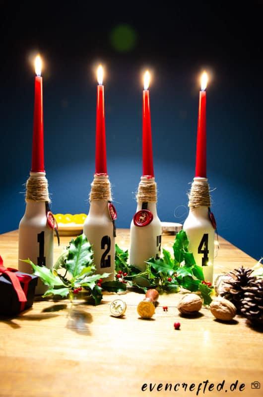 Adventskranz selber machen- mal ganz anders: Der Zero Waste Adventskranz zum Selbermachen| evencrafted.de ♥ DIY & Naturkosmetik Blog