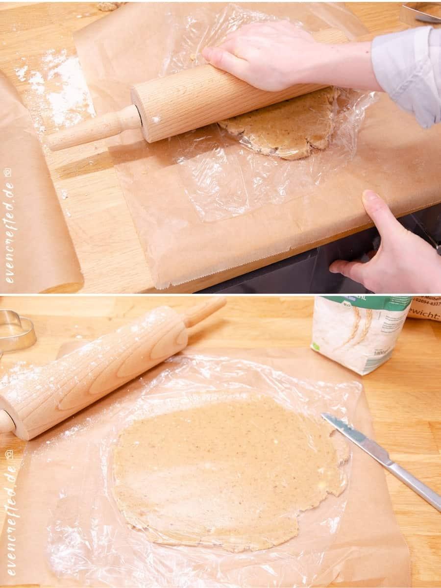 Weihnachtsplätzchen Rezept: Mandelplätzchen mit cremiger Nougatfüllung backen |  evencrafted.de ♥ DIY & Naturkosmetik Blog