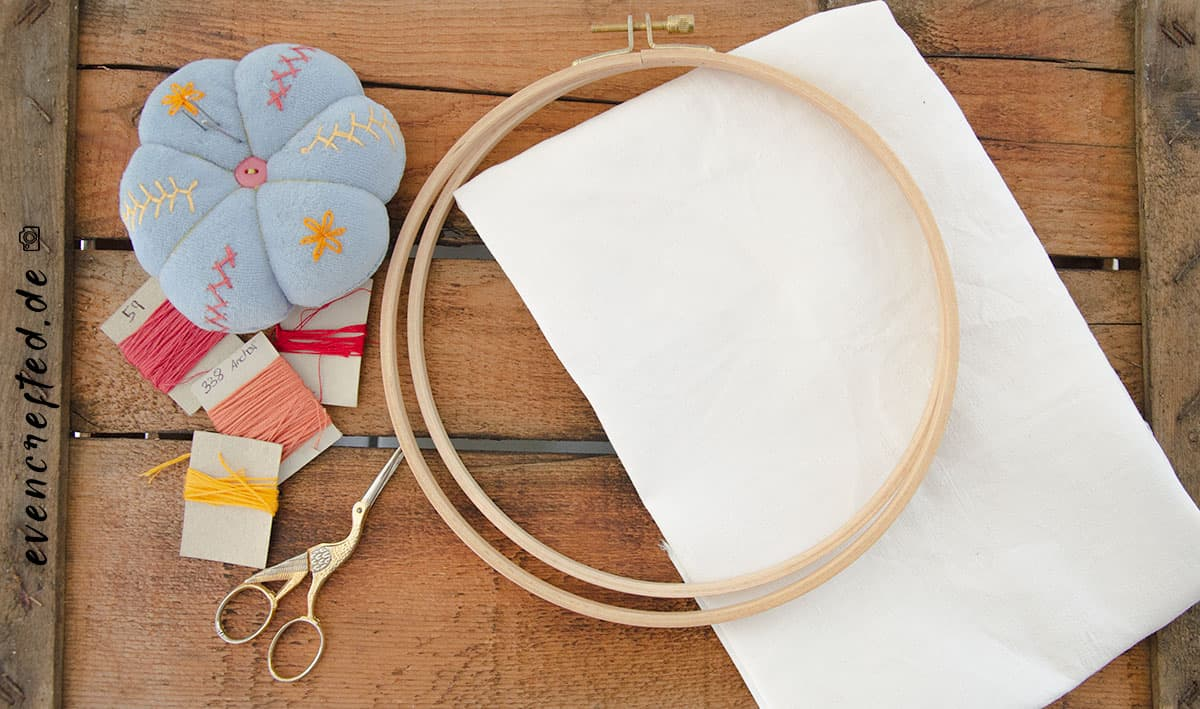 Idee zum (be) Sticken für Anfänger - mit gratis Vorlage! | evencrafted.de ♥ DIY & Naturkosmetik Blog