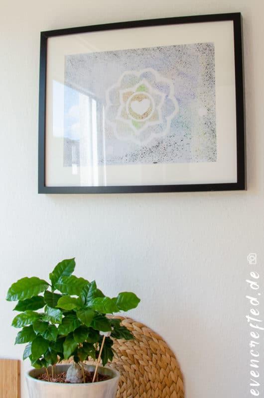 Malen mit Wasserfarbe- Spritzbilder als DIY Idee | evencrafted.de ♥ DIY & Naturkosmetik Blog