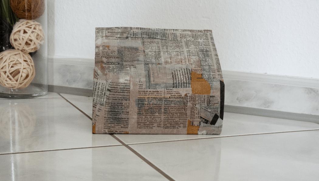 vintage look kreieren mit Zeitungspapier