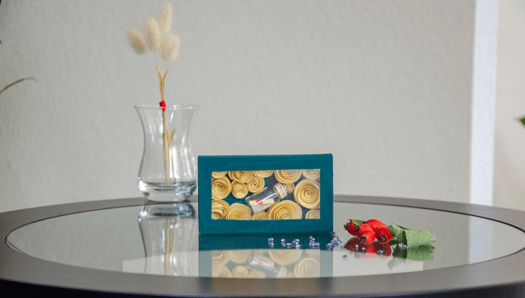 Streicholzschachtel mit transparentem Fenster DIY Geschenk mit romatischer Botschaft - 5 Blogs 1000 Ideen