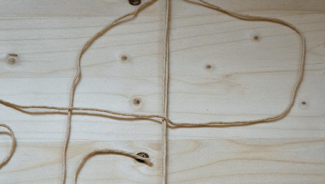 DIY Makramee: Halber Weberknoten Schritt 1